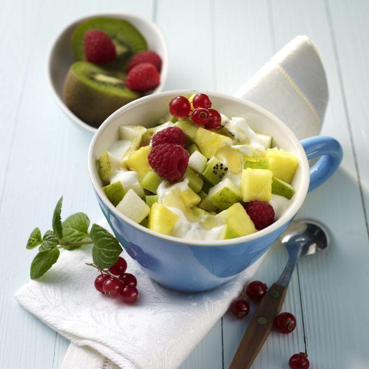 Obstsalat griechischer joghurt