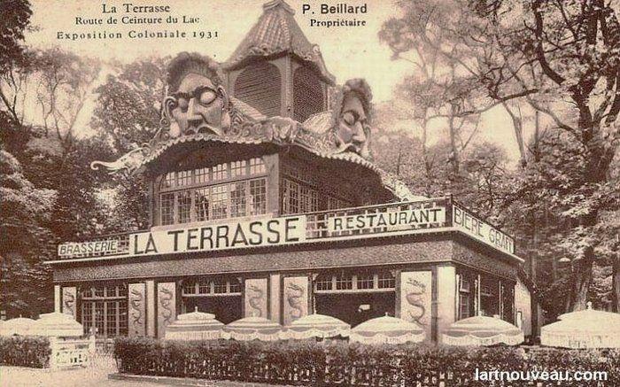 Le café la Terrasse (exposition coloniale 1931) - détruit