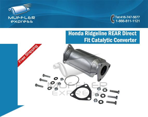 Our Honda Ridgeline REAR Direct Fit Catalytic Converter fits all 3.5L V6 models from 2006 through to 2008.