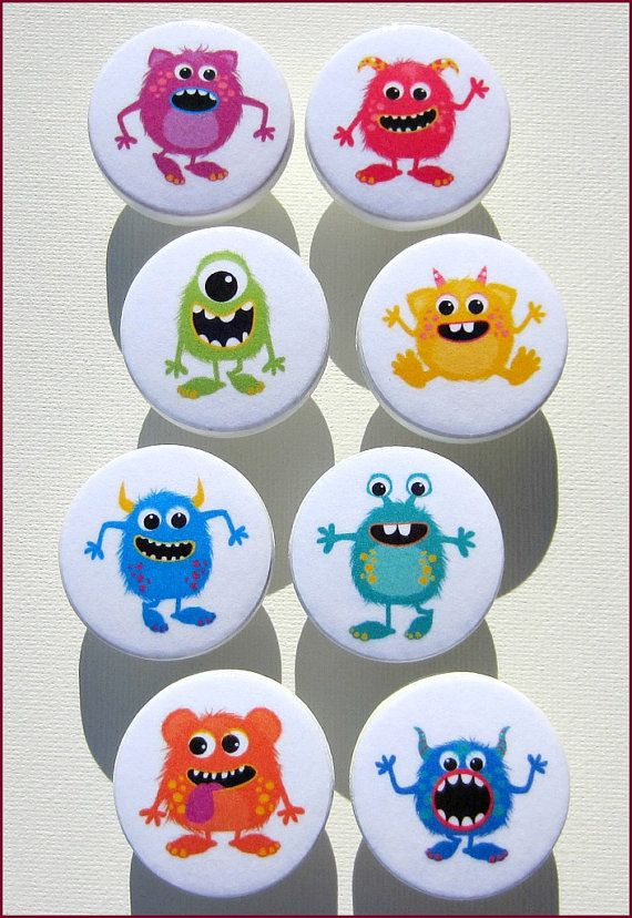Dresser Knobs  Drawer Knobs  Cute Monster by SweetPetitesBoutique, $5.00