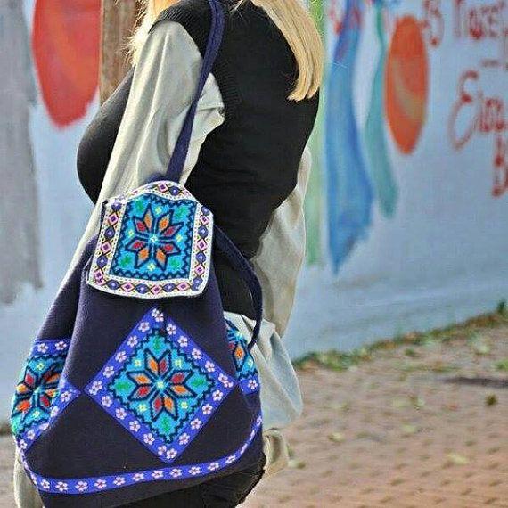 Handmade fabric Tagari backpack by jtfashionsoul on Etsy