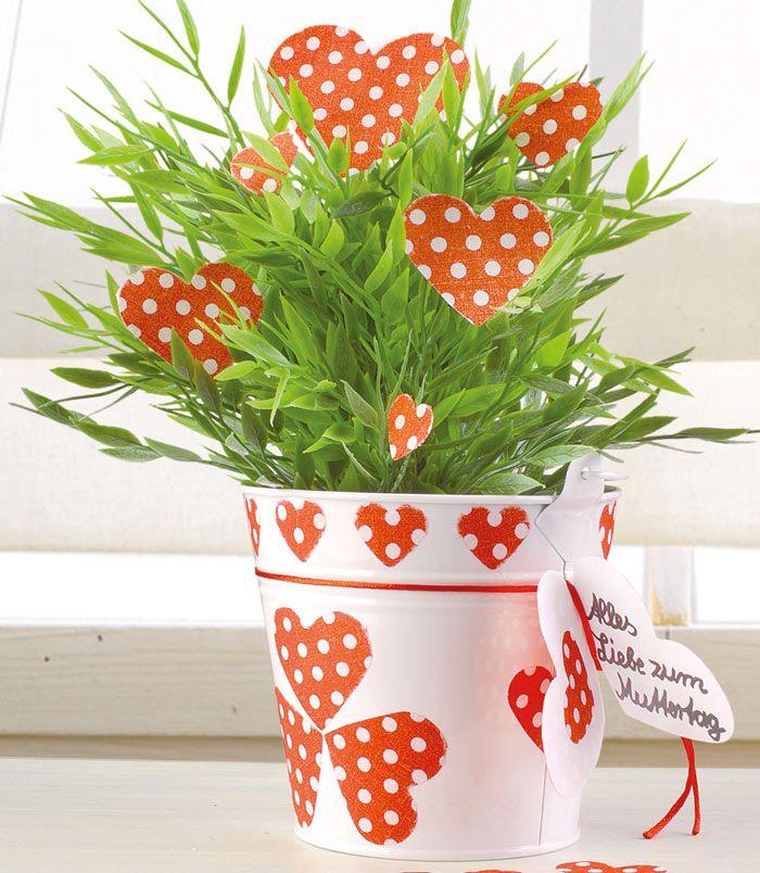 Für Kräuter und Blumen: Zinkeimer im Landhausstil - Geschenke Muttertag und…