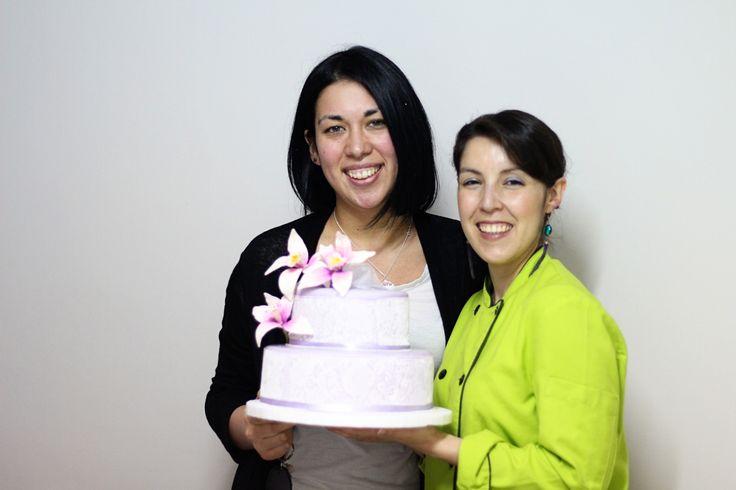 Alumna ganadora de torta