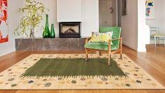 Alfombras Contemporaneas de lana : Modelo COIMBRA Verde