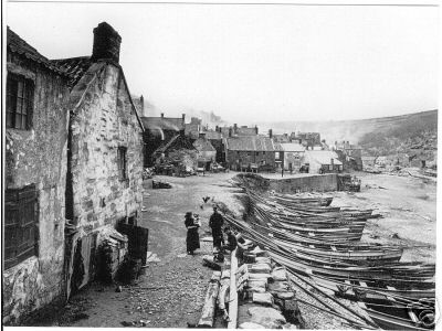 Old cobbles on the Staithe at Staithes