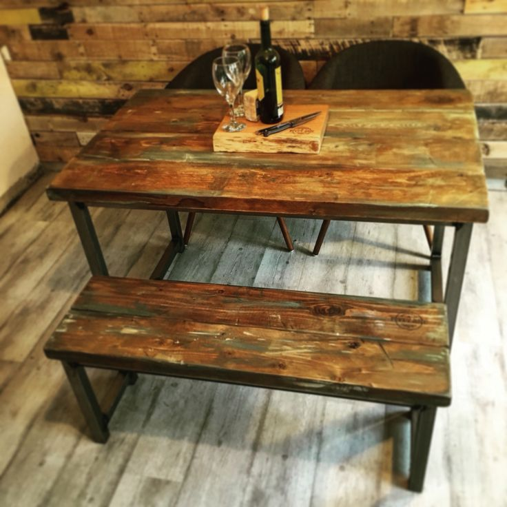 Our newest table design!   Industrial furniture at its finest! Bespoke sizes and finishes please get over to our website and drop us an email   Www.crescentfiftyone.co.uk