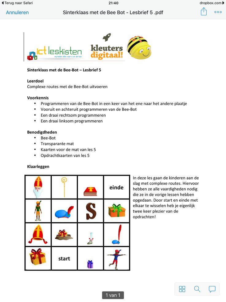 Les 5 Sinterklaas: http://www.kleutersdigitaal.nl/bee-bot-programmeerbare-robot/