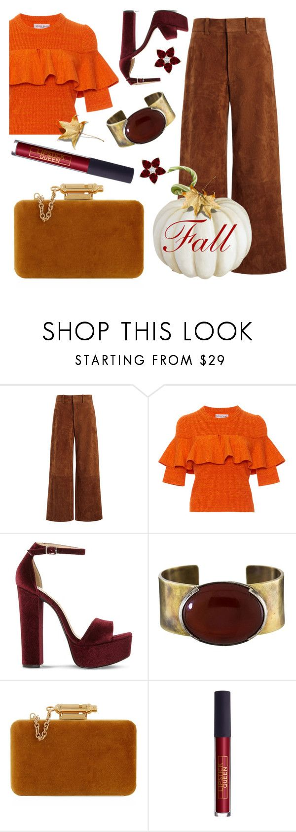 """""""IDK"""" by stephanie-mac ❤ liked on Polyvore featuring Joseph, Apiece Apart, Steve Madden, Orduna Design, Sophie Hulme and Lipstick Queen"""