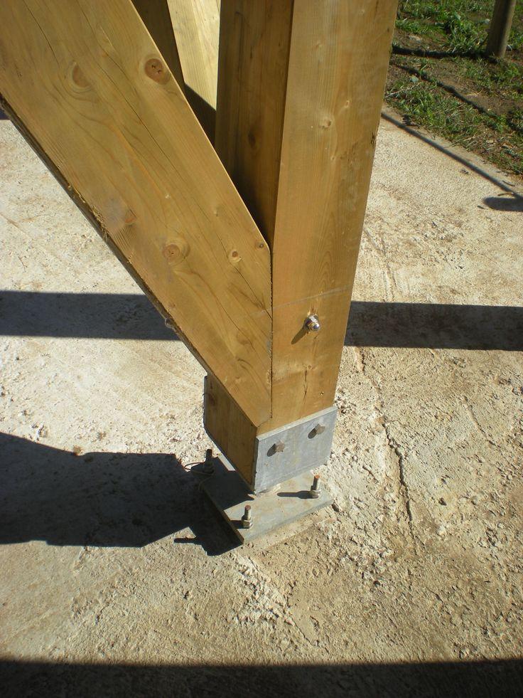 Resultado de imagen para union cercha y pilar madera