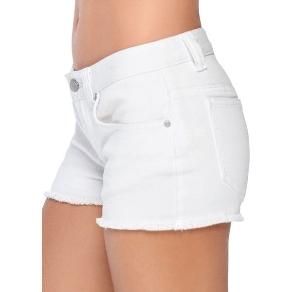 Venus Women's Cut Off Jean Shorts ($16) ❤ liked on Polyvore featuring shorts, white, cut-off shorts, cut-off jean shorts, cutoff denim shorts, cutoff jean shorts and white shorts