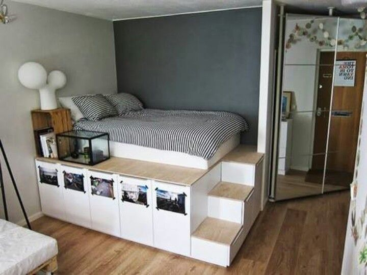 Storage bed...since there isn't much space for dressers and such :)
