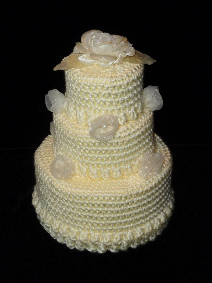 How to Crochet a Cake | Pin 3layer Cake Crochet Wedding Pattern Only Pdf By Momwithahook Cake ...