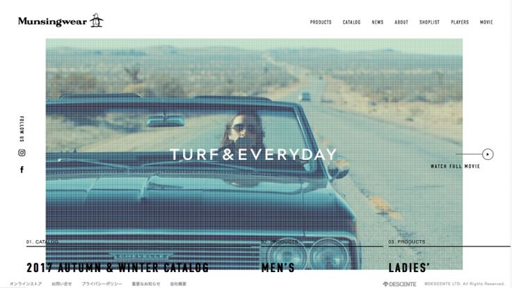 #DOTD Munsingwear Officialwebsite by panorama inc #Japan #Website