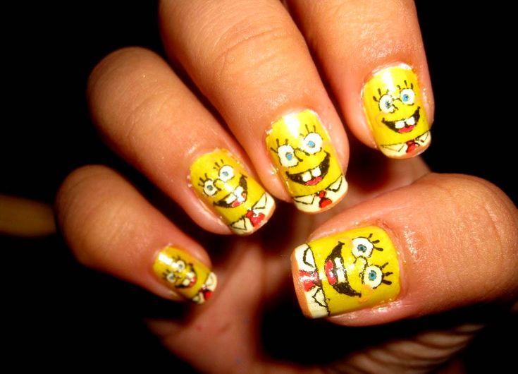 #nails #yellow #spanch #bob #evgelina