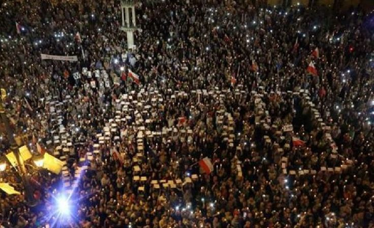 Thousands hit the streets as Poland's government is accused of trying to subvert democracy