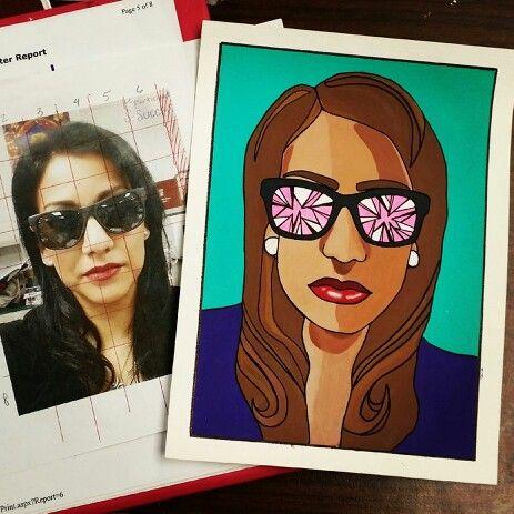 Selfie cartoon style art project