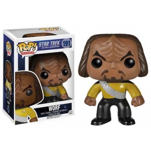 Funko Pop! Worf, Next Generation, Star Trek, Guerra nas Estrelas, Nova Geração, Funkomania, Filmes, Séries