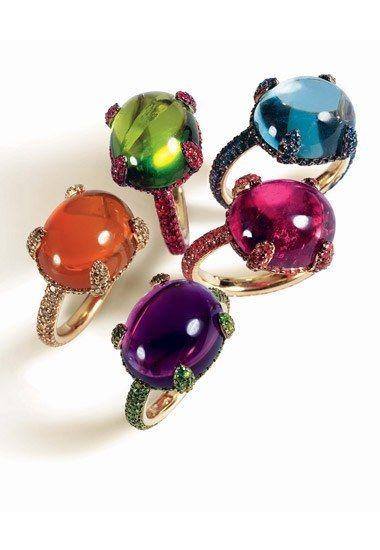 Bijoux bagues : bague or blanc - bagues pierres fines - bagues Caramelle Pomellato  - Bijoux femme