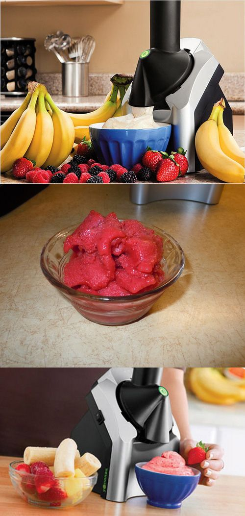 Healthy Homemade 'Icecream' with the Frozen Fruit Treat Maker