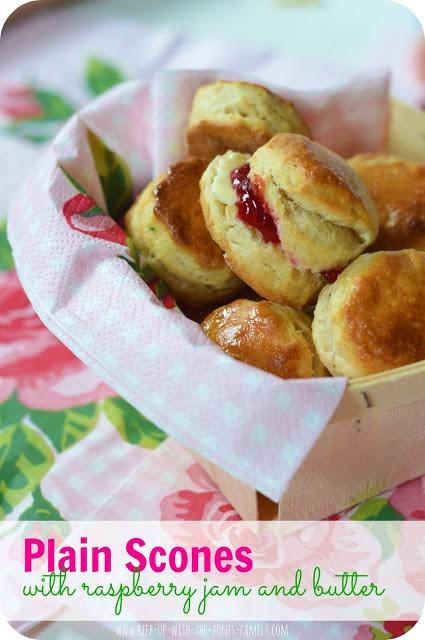 Plain mini scones, baking with children