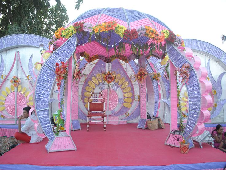 Mandap decoration with flowers and banana leaves google for 7p decoration