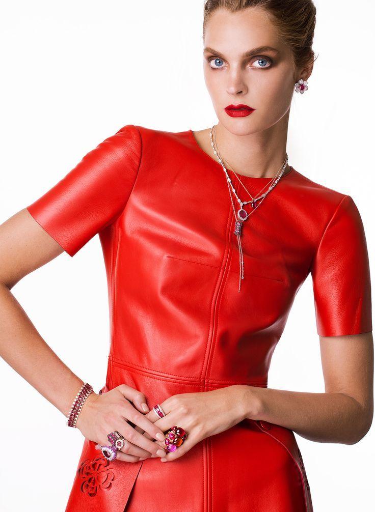 Strapless Faux-Leather A-Line Dress #GUESS | Mini dress