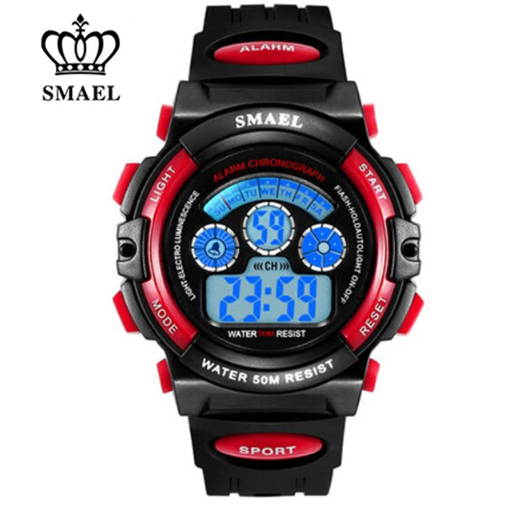 SMAEL LED Kids Watches Waterproof Digital Wristwatches Colorful Girls Watches Children Birthday Gifts Catoon Watch Toy WS0508B