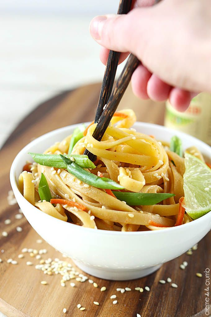 Sesame Peanut Noodles- gluten free noodles and tamari will make this gluten free!