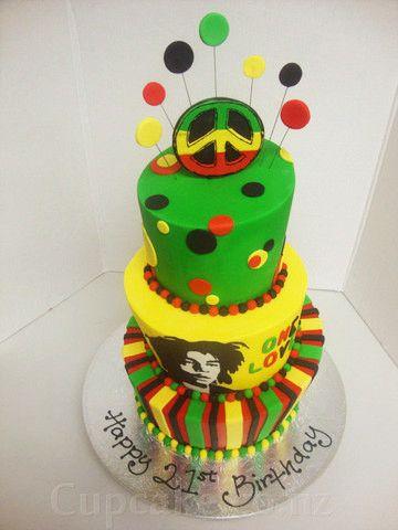 reggae birthday cakes