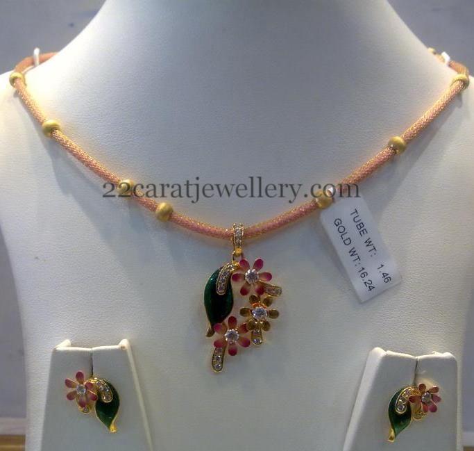 16 Grams Fancy Necklace | Jewellery Designs