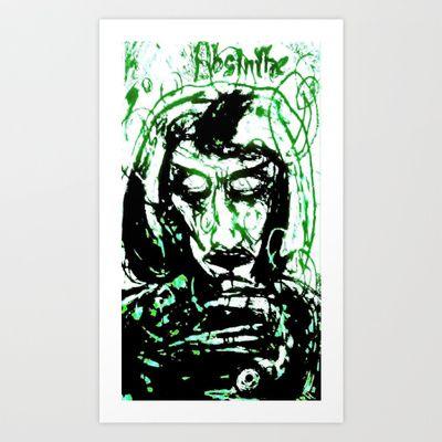 Absinthe  Art Print by Shane R. Murphy - $19.00