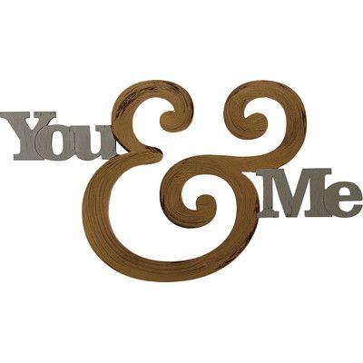 Letter2Word You and Me Wall Décor & Reviews | Wayfair