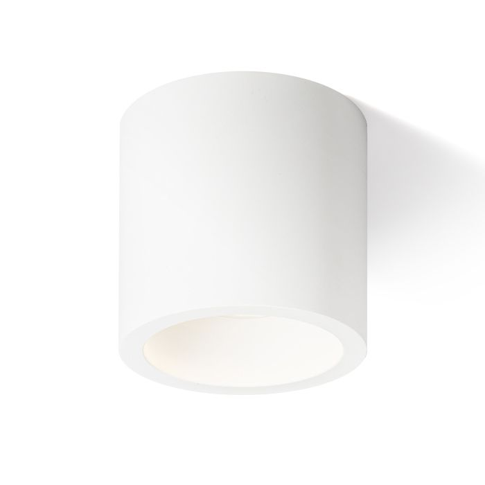GINA CEILING | rendl light studio | Plaster cylindrical ceiling light with a GU10 socket. Paintable with regular wall paint. #lights #ceiling #interiorlighting