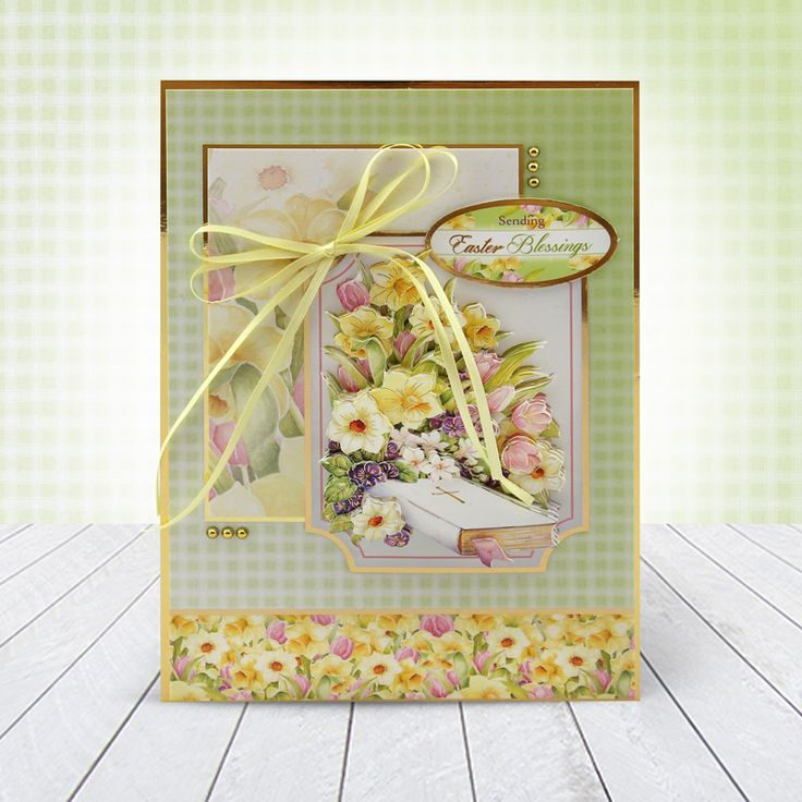 Card made using Hunkydory Crafts' Easter Greeting Luxury Topper Set from the Moments & Milestones Collection