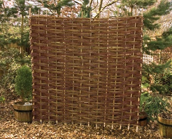 Woven Willow Panels   Impossible to miss and durable  this alternative  garden proposition cannot go24 best Willow images on Pinterest   Garden fences  Garden trellis  . Living Willow Fence Panels. Home Design Ideas