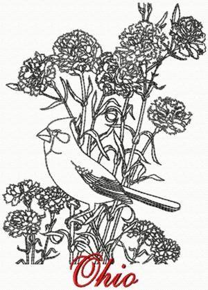 Ohio: Cardinal | Machine Embroidery - Bird Designs and ...
