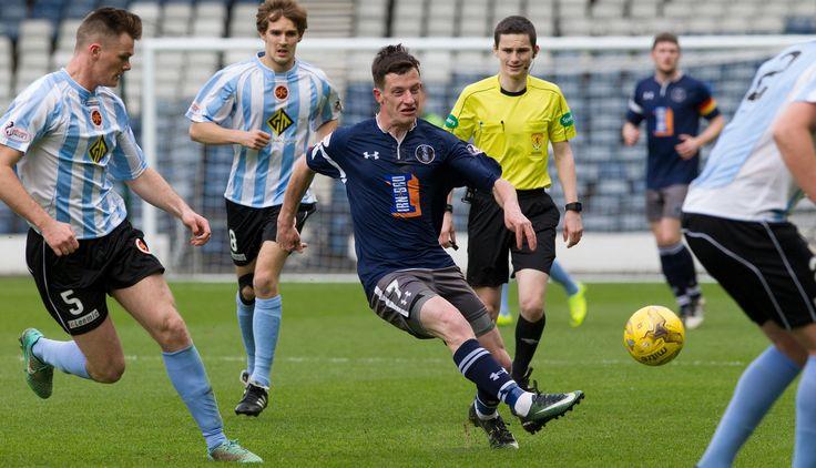 Queen's Park's David Galt in action during the Ladbrokes League One game between Queen's Park and Stenhousemuir.