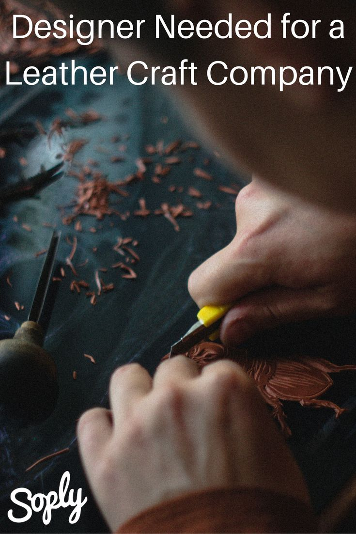 #Designer needed to make a #company brand design for a #leather #craft #company. The #client will need to send the #design to the company who makes hot stamps for his #brand. See the design job and apply by clicking the pin!