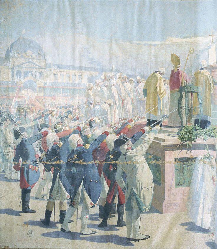 Henri Martin - Fête de la Fédération au Champ de Mars le 14 juillet 1790