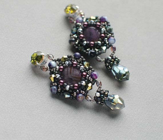 Hey, I found this really awesome Etsy listing at https://www.etsy.com/listing/605232299/beaded-gemstone-ultra-violet-olive-green