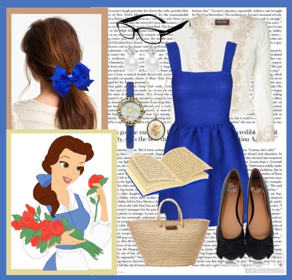 image result for diy belle halloween costume blue dress