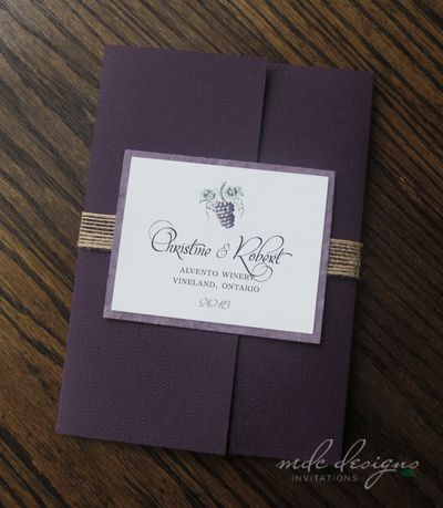 Great Eco Friendly Winery Wedding Invitation