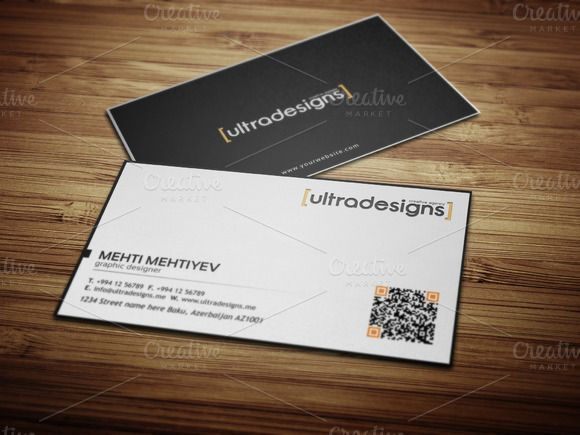 42 best qr code business card images on pinterest business card check out clean qr code business card 3 by ultradesigns on creative market colourmoves