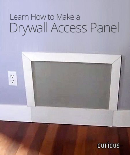 How to Make a Drywall Access Panel | Maintenance and ...