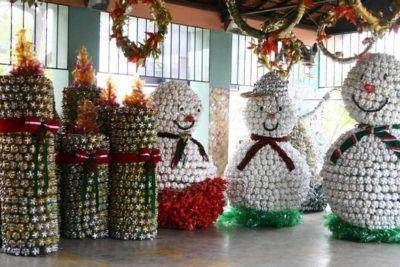 dicas de decoração para o natal com reciclagem garrafa pet