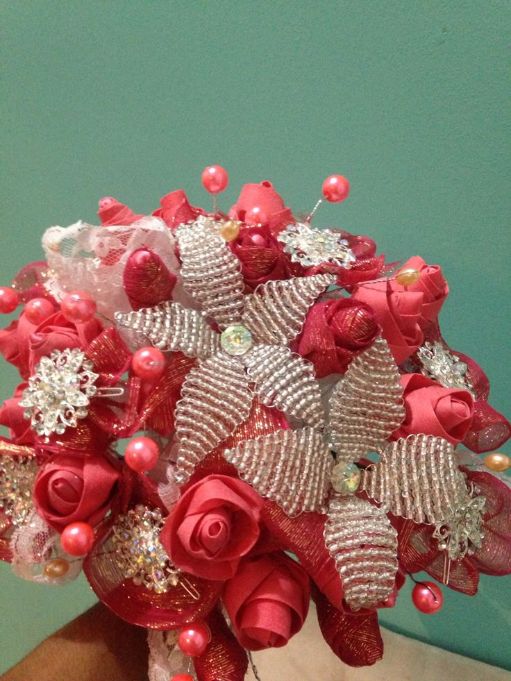 ramo rosas corales