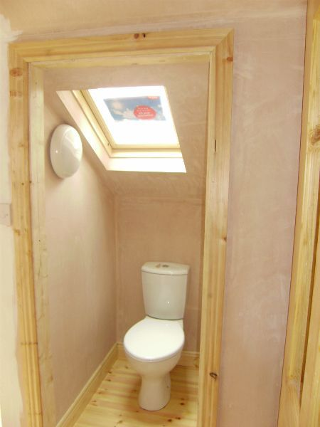 Small Attic Bathroom That Makes Good Use Of The Available Space.