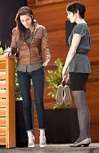 """I've been breaking them in, for three days. Can I just go bare foot?"": Casual Outfit, Dawn O'Port, Wedding Shoes, Bella Swan, Kristen Stewart, Leather Jackets, Twilight Break Dawn, Twilight Saga, Kristenstewart"