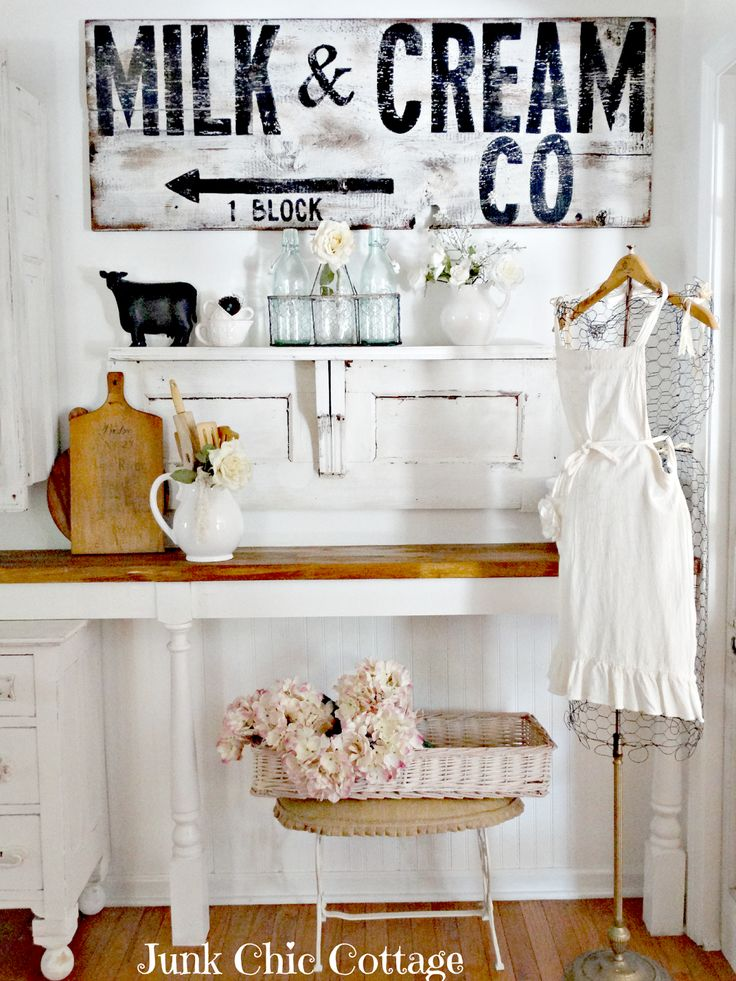 Junk Chic Cottage: Milk and Cream Company