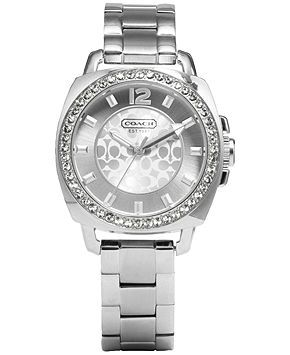 Coach Boyfriend Small Bracelet Watch - Coach Watches - Handbags & Accessories - Macy's,,,not much of a watch person, but I really like this!